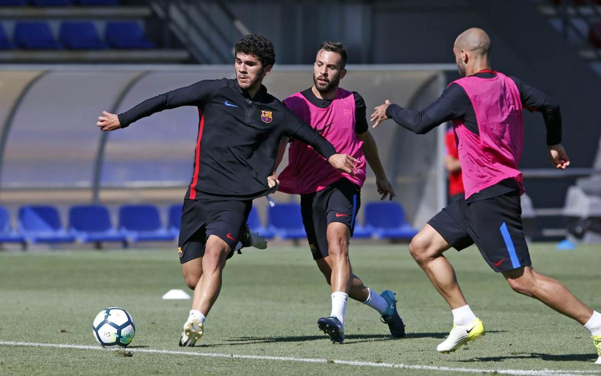 A training session with the Spanish Super Cup in mind