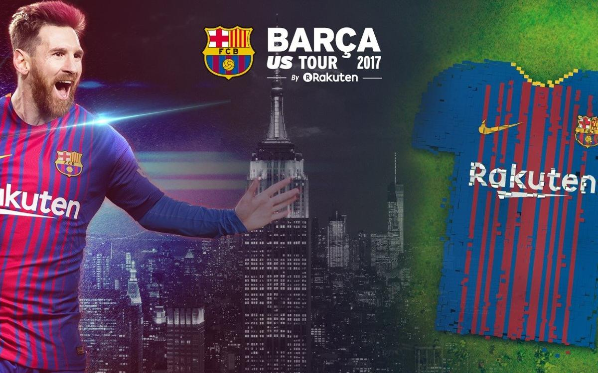 New York prepares for a historic FC Barcelona mosaic