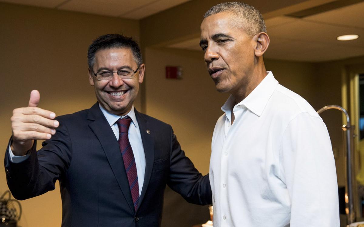 バルトメウ会長、バラック・オバマと接見