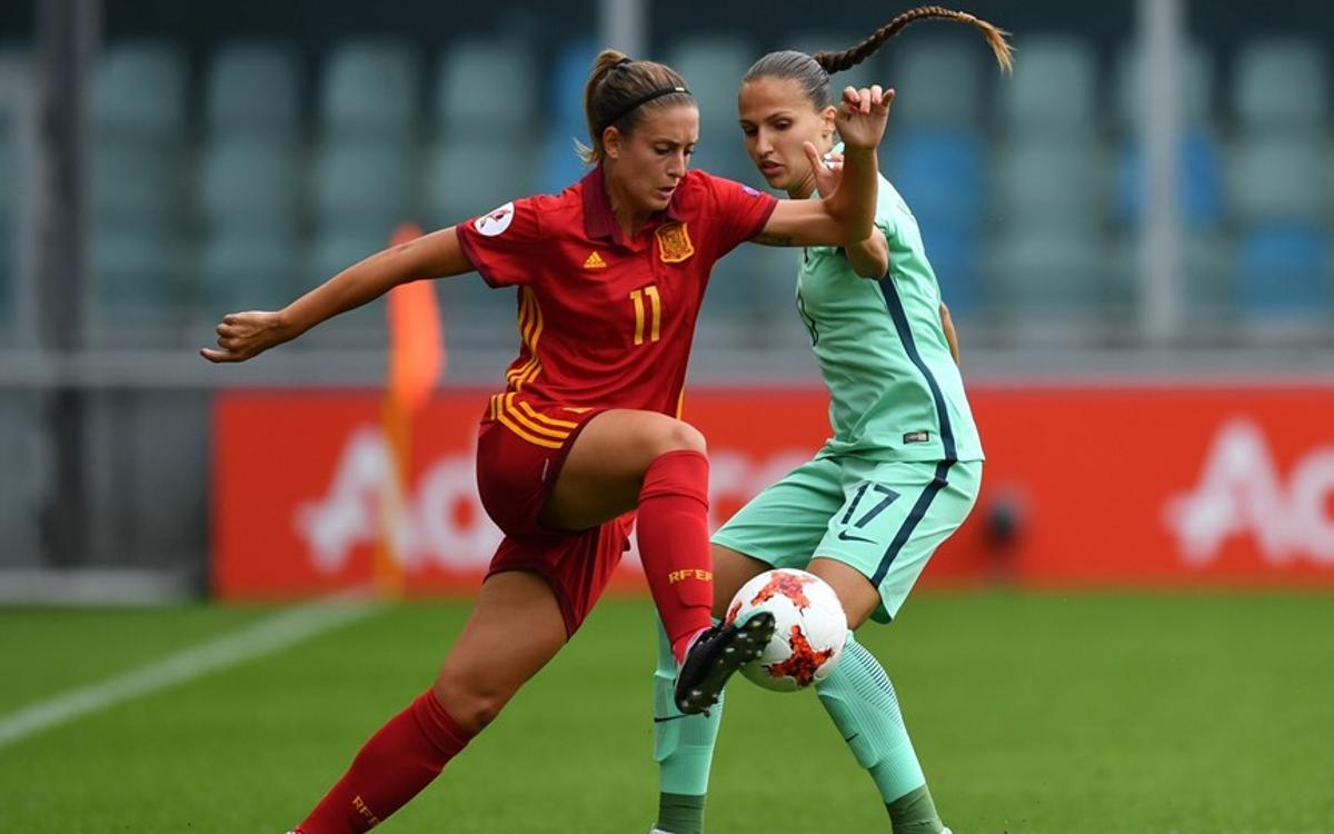Set blaugranes participen en el debut de la selecció espanyola a l'Eurocopa