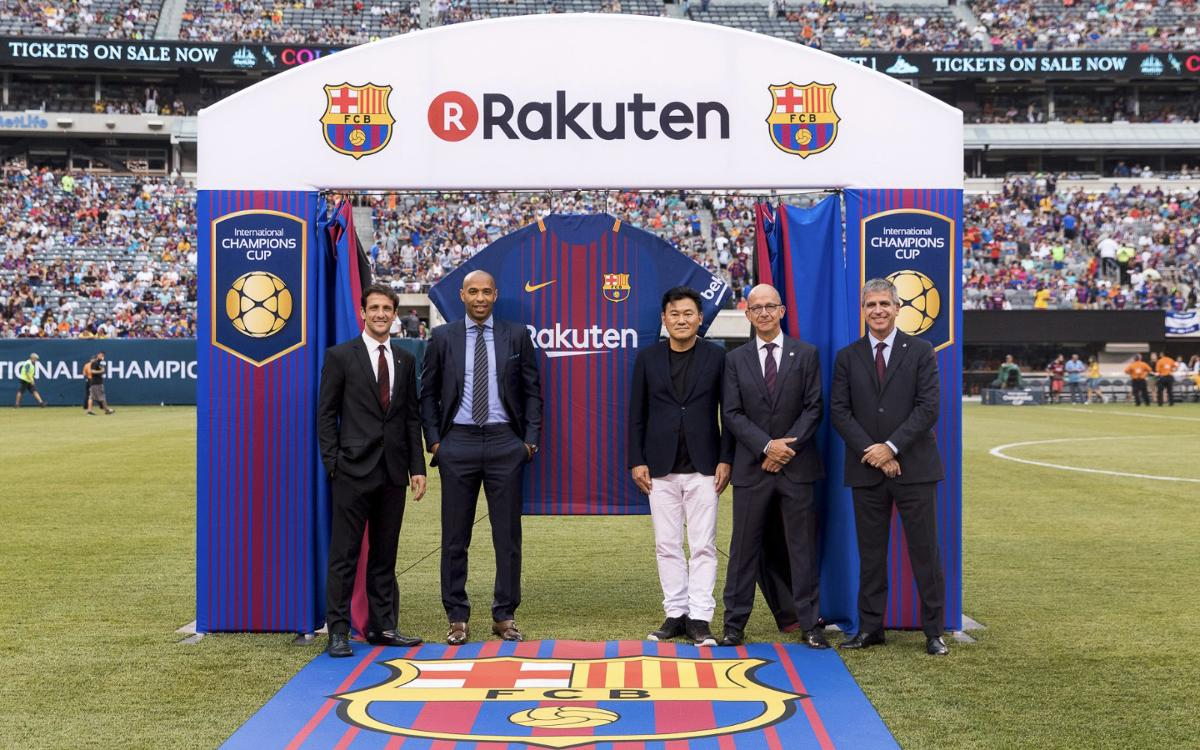 New Barça shirt and sponsor unveiled at a festive MetLife Stadium