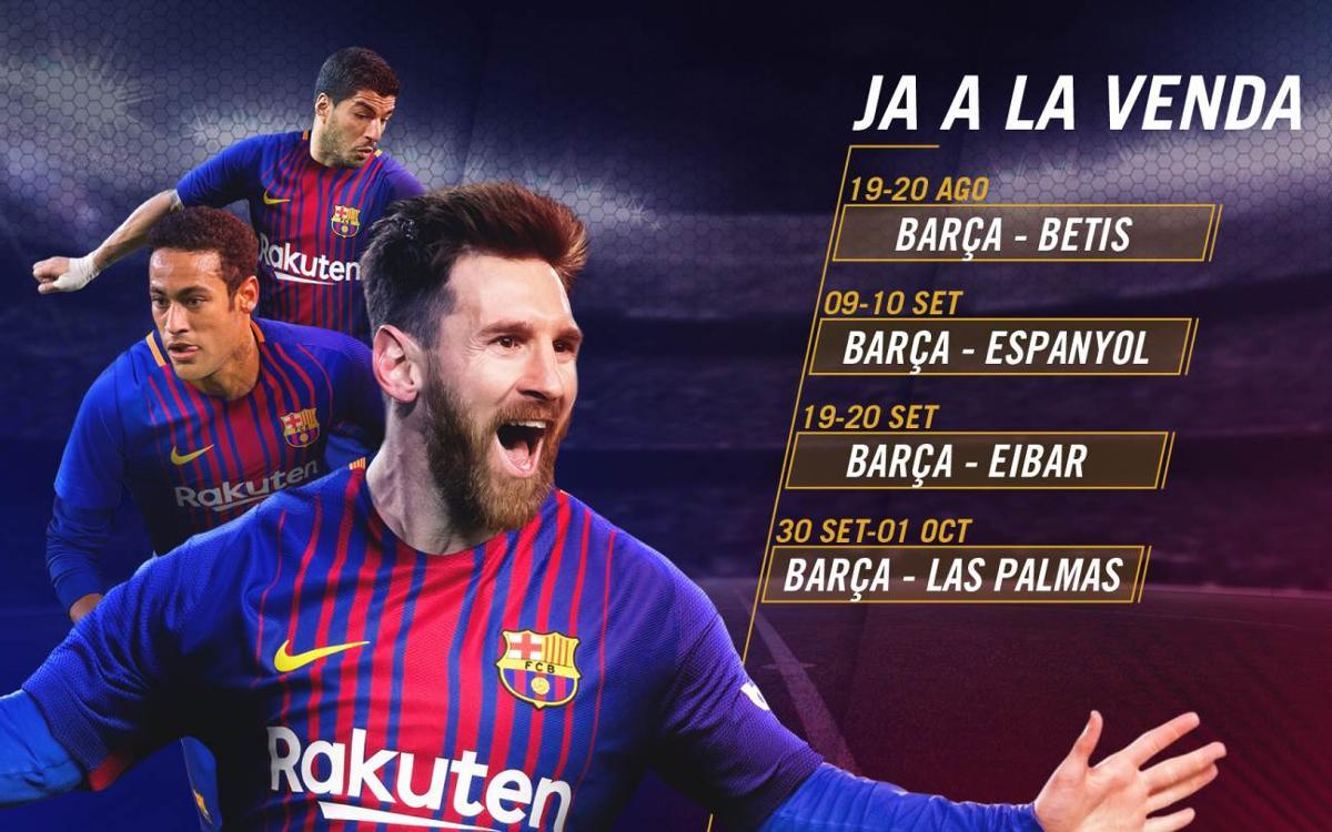 Comienza la venta de entradas para los primeros partidos de la Liga