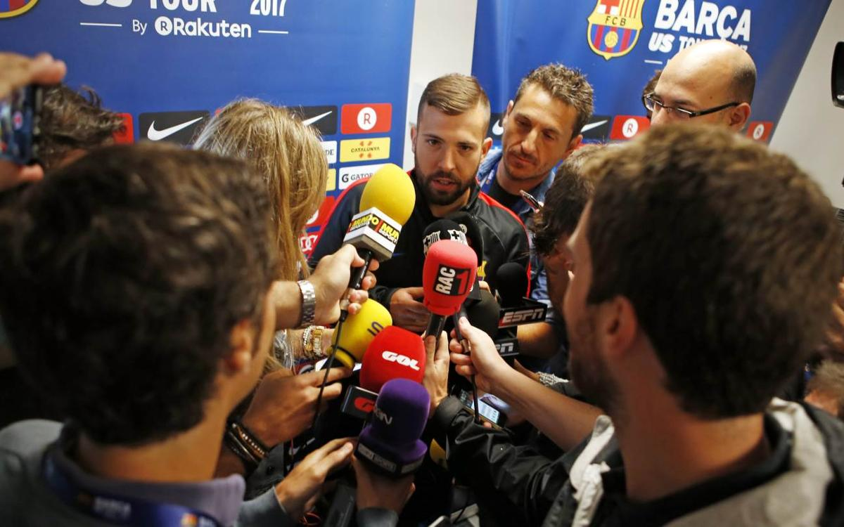 Jordi Alba: 'Valverde has very clear ideas'