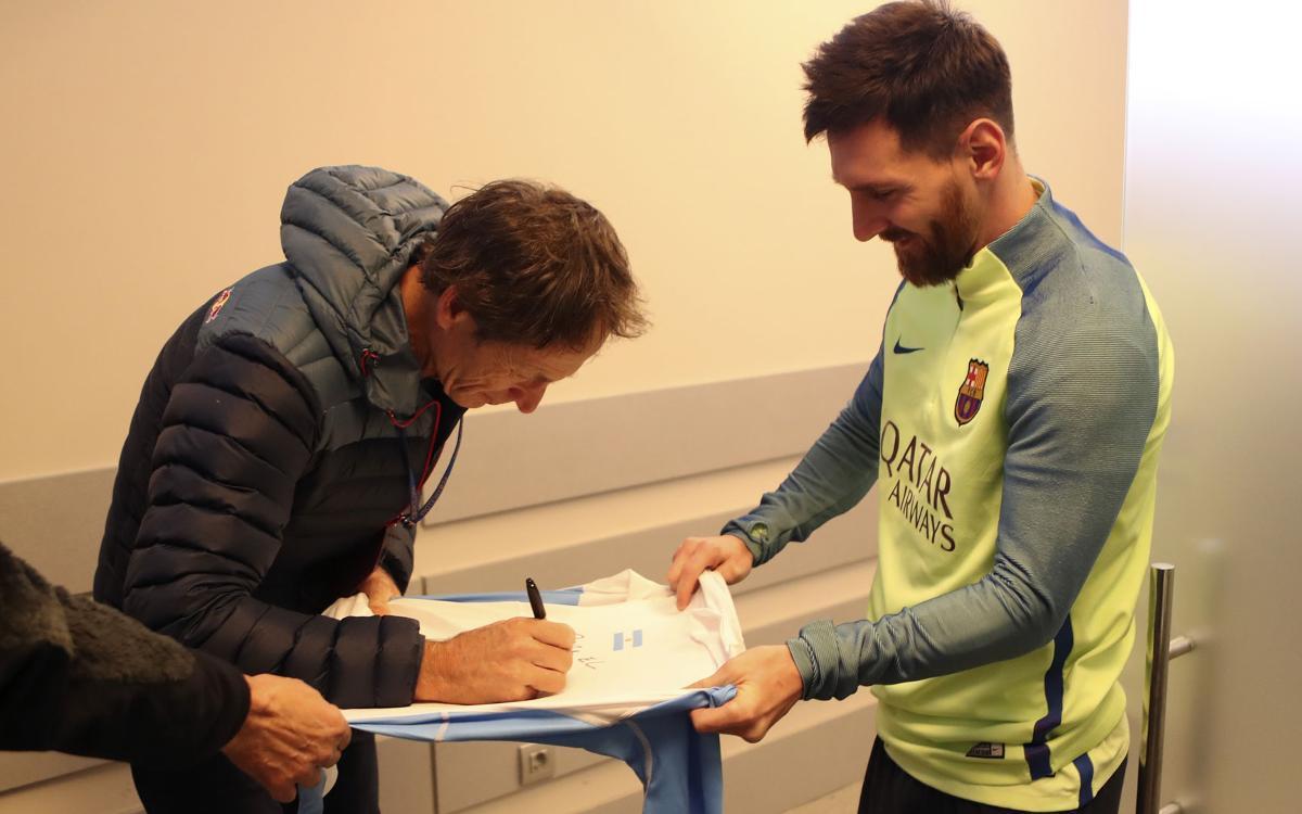 """Santiago Lange: """"La manera cómo me trató el FC Barcelona fue muy bonita"""""""