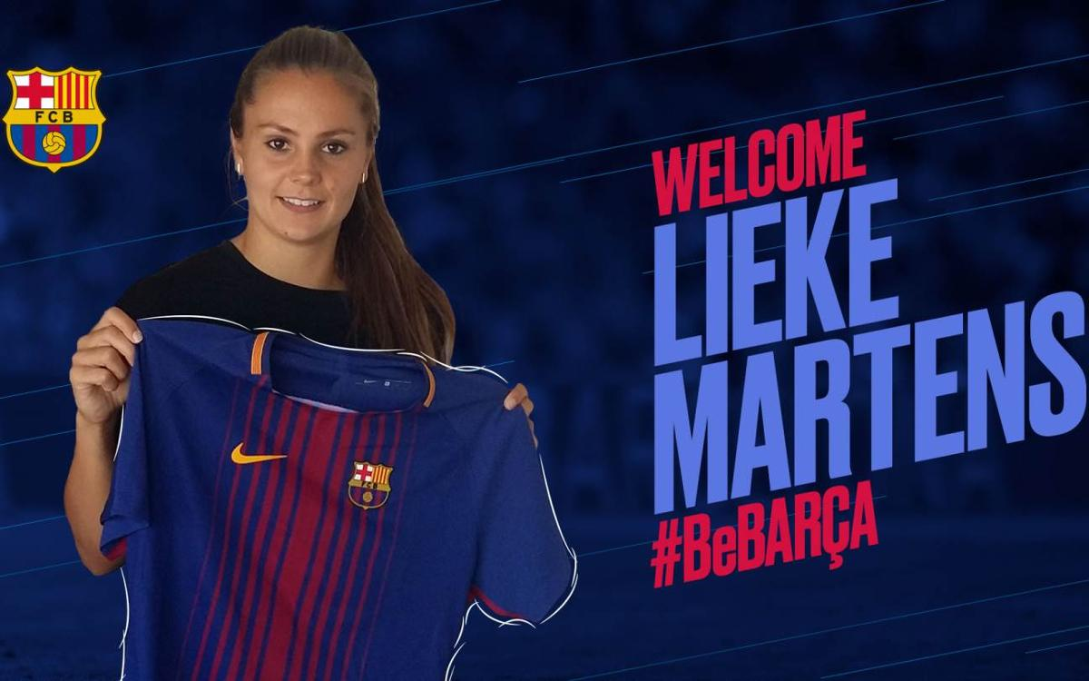 Lieke Martens, fourth signing for 2017/18 for Barça Women