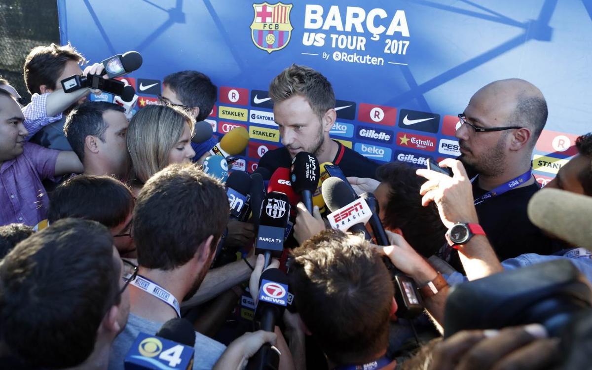 """Rakitic: """"Volem guanyar sempre, i més un Clàssic"""""""