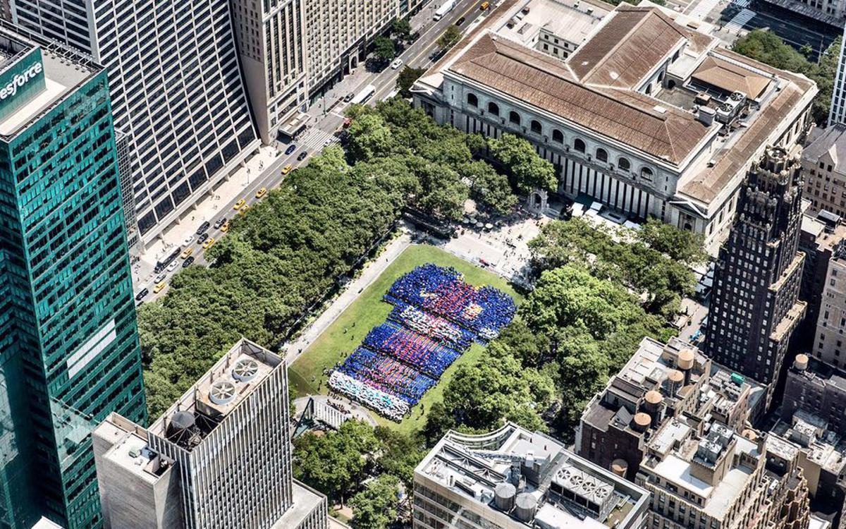 Gran mobilització blaugrana al cor de Manhattan