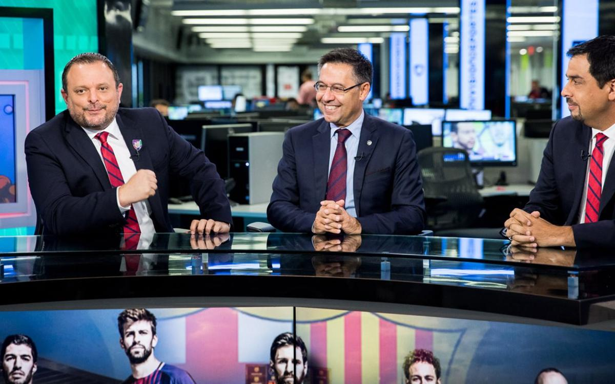 Bartomeu interviewed by Miami media
