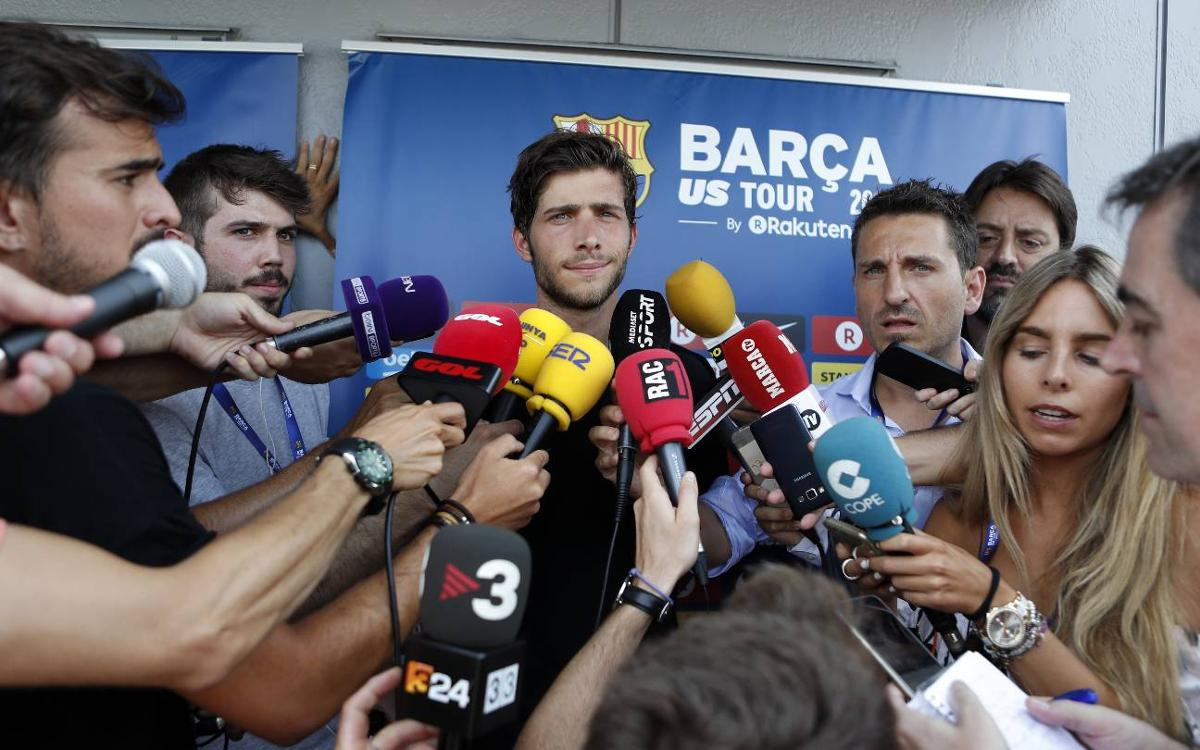 Sergi Roberto says he'll play 'wherever the coach asks'