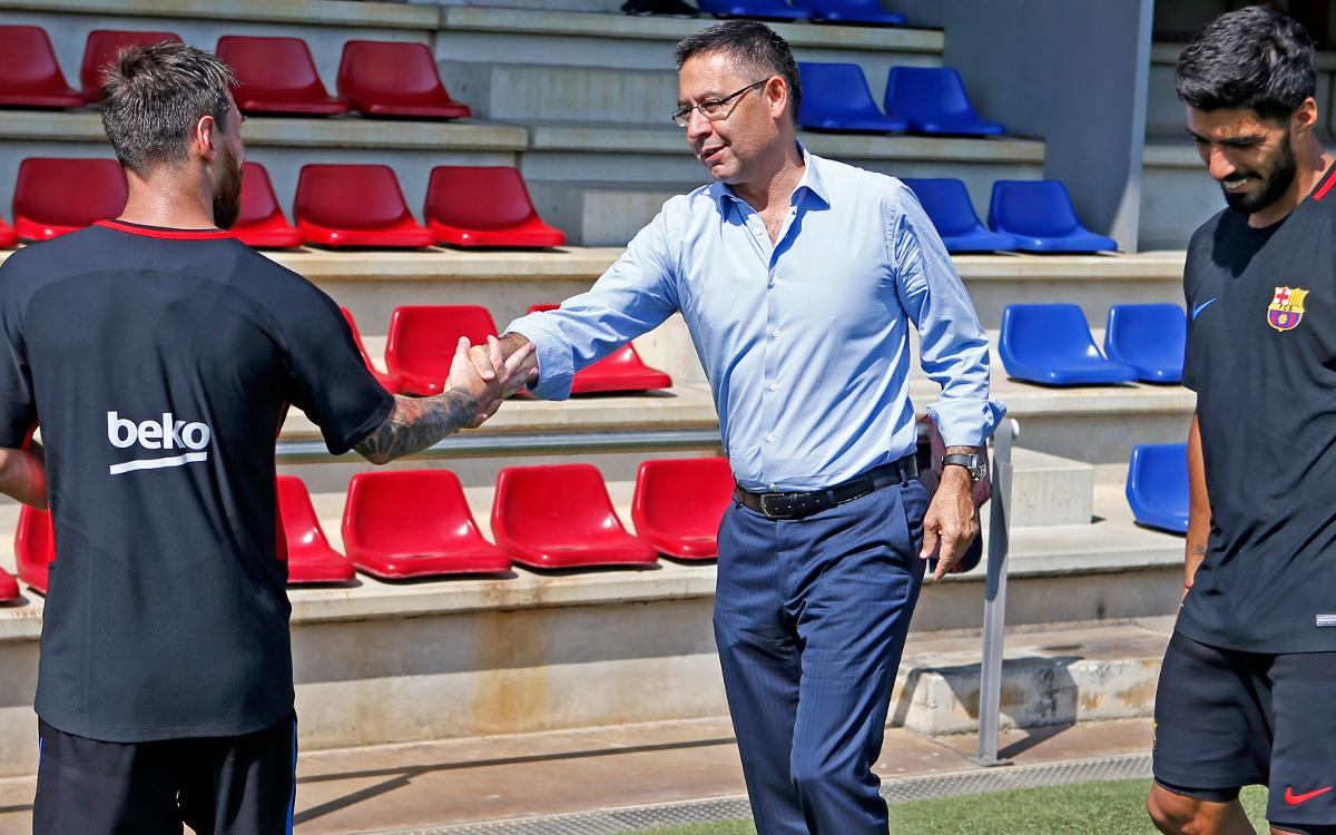 Visitors' day at the Ciutat Esportiva