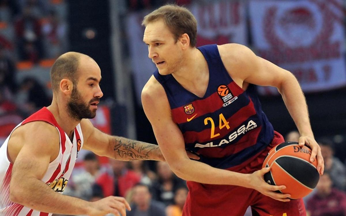 Olympiacos Piraeus v FC Barcelona Lassa: Barça come unstuck in Greece (59-52)