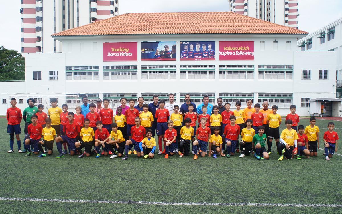 Les FCBEscoles de Singapur i Nova Delhi, agermanades en dos amistosos