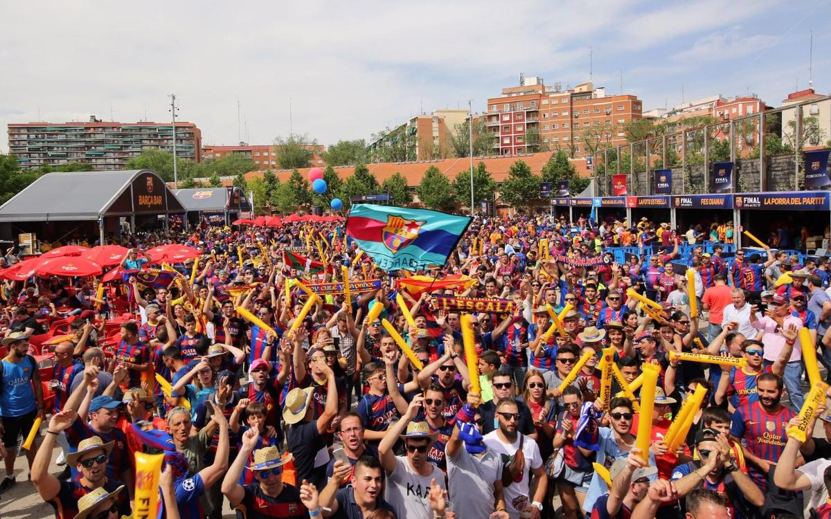 Top atmosphere all day long at FC Barcelona Fan Zone
