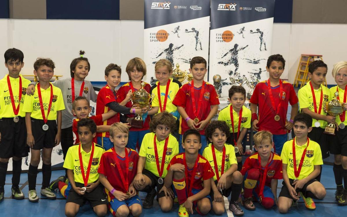 Tres subcampeonatos de la FCBEscola Dubái en el Torneo Stryx