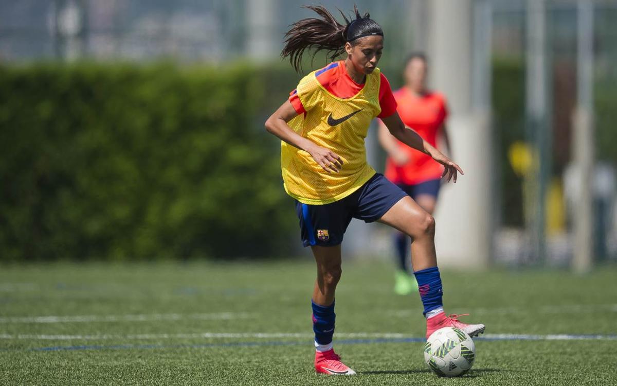 Andressa Alves, con un esguince en el tobillo