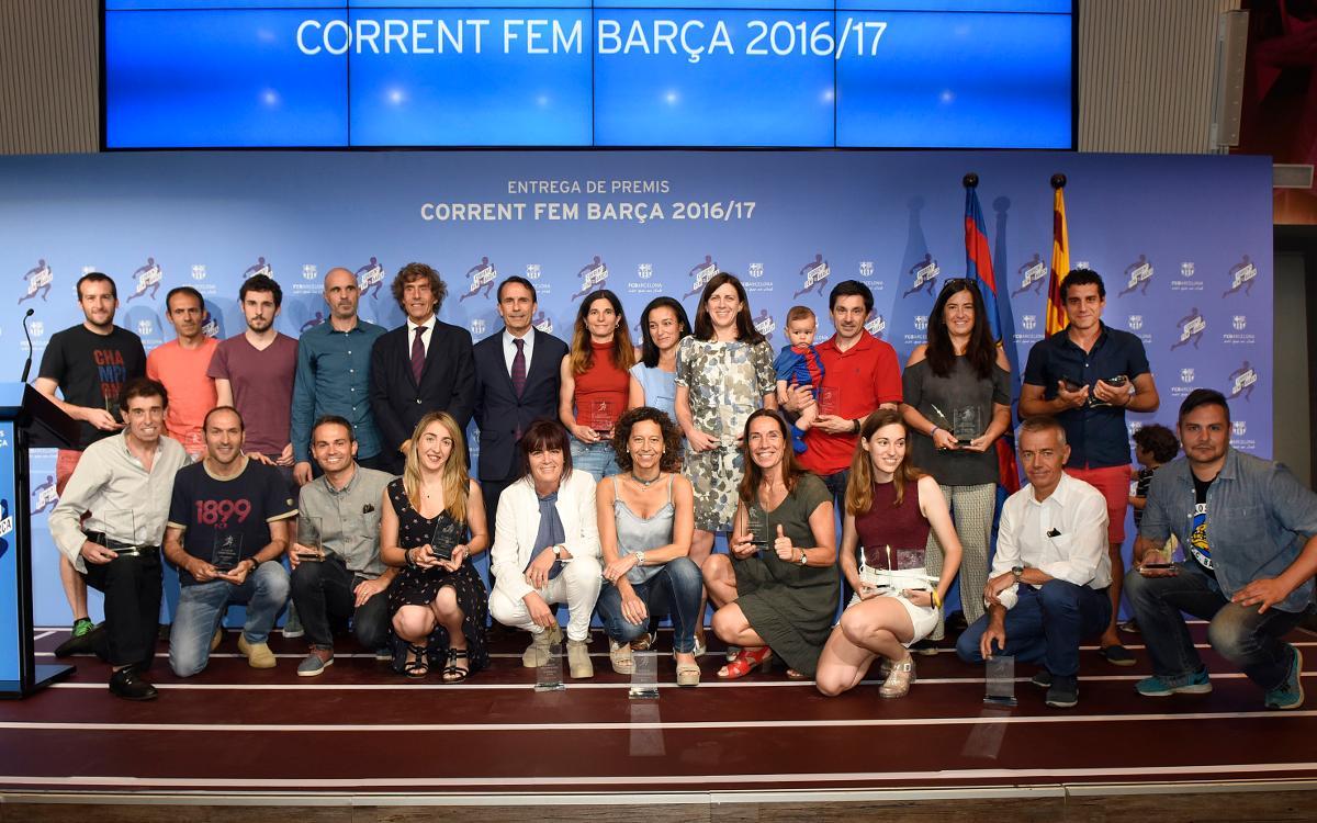 Lliurament de premis de la cinquena Lliga 'Corrent fem Barça'