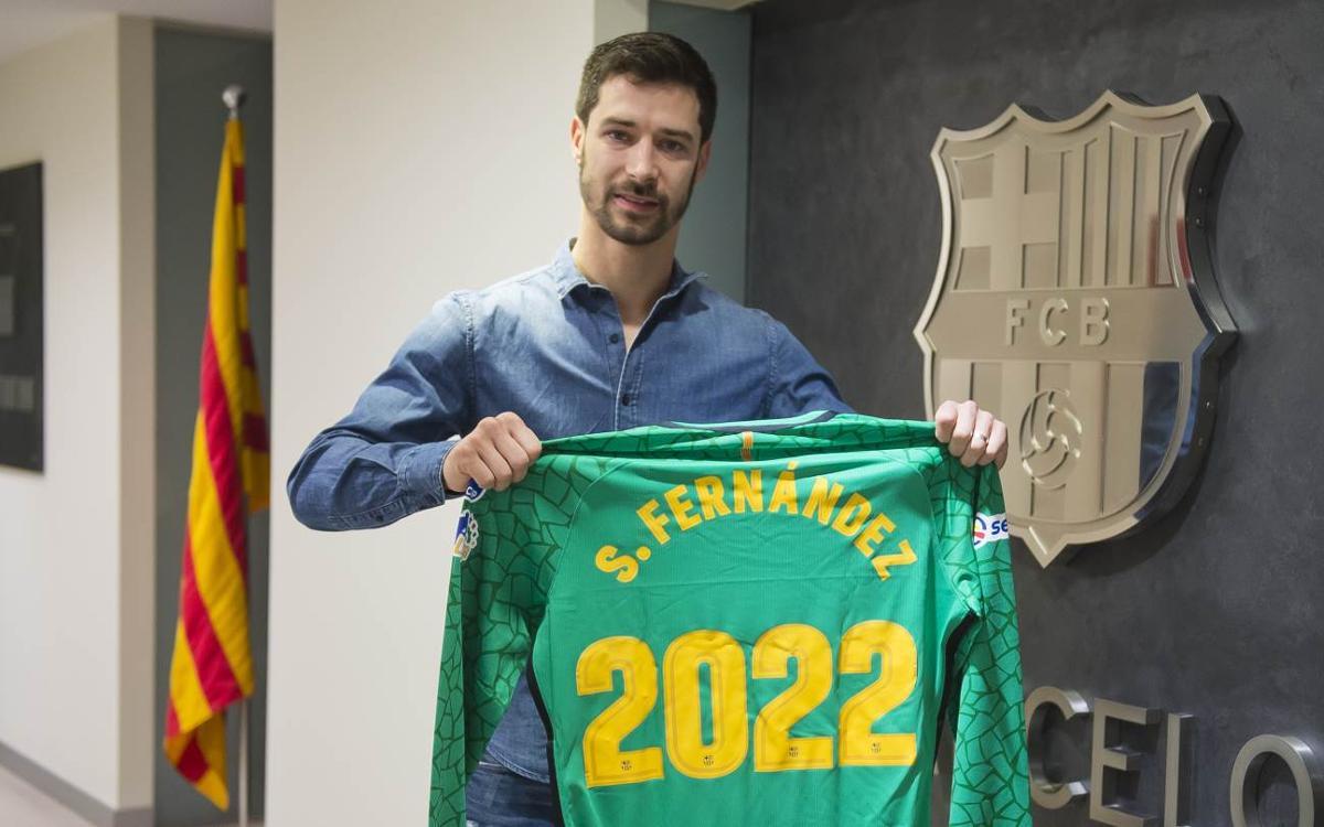 Sergi Fernández estarà quatre temporades més sota els pals del Palau Blaugrana