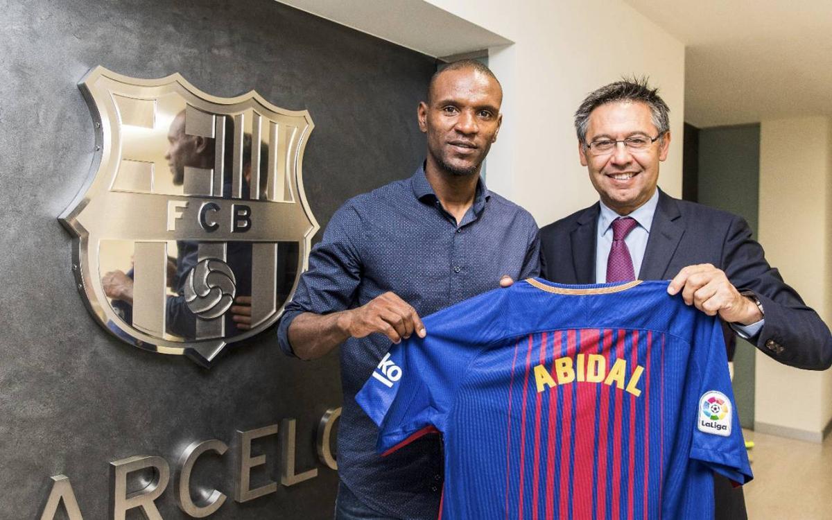 Éric Abidal, new ambassador of FC Barcelona