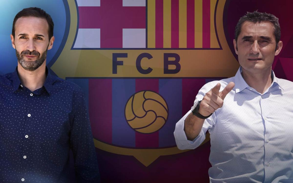 Sito Alonso and Ernesto Valverde, back together in Barcelona
