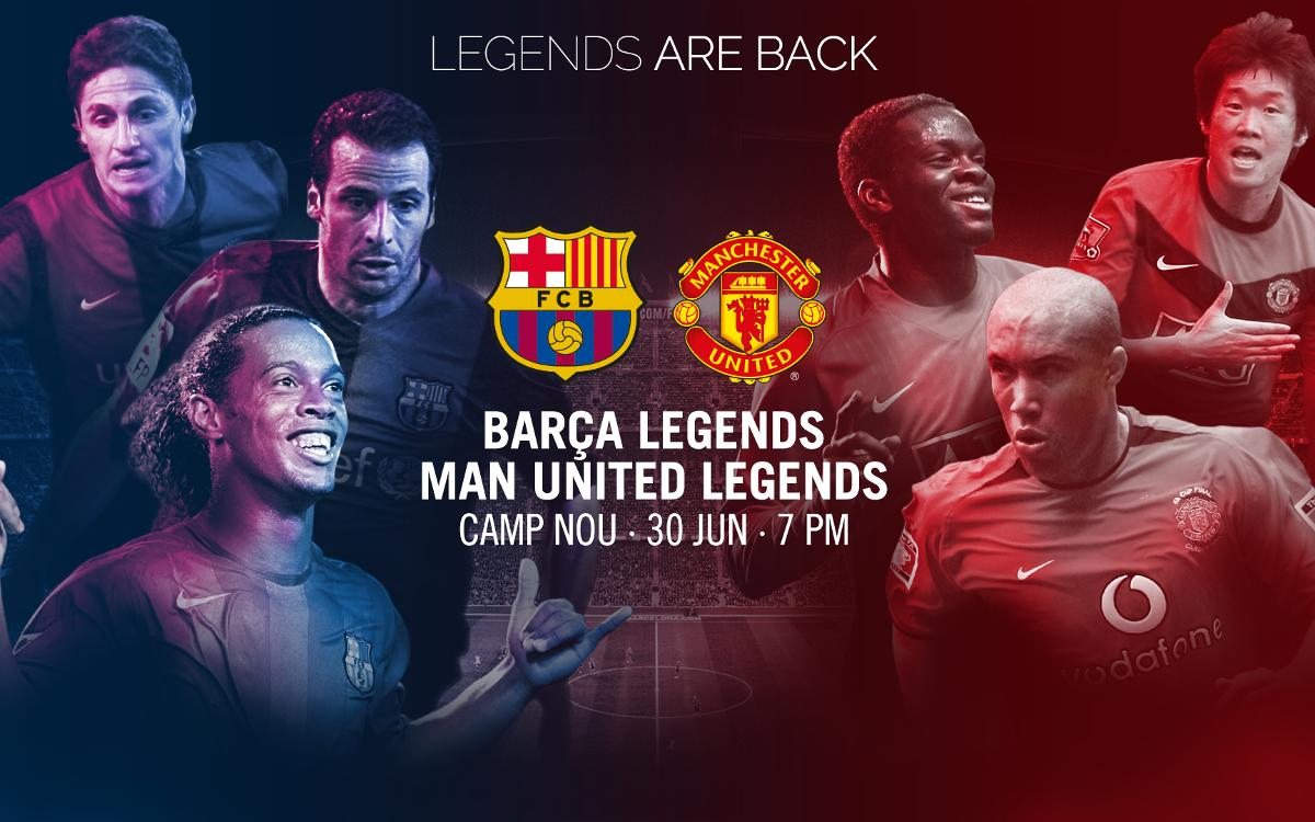 Barça Legends v Manchester United Legends, live stream on Barça Video for registered users
