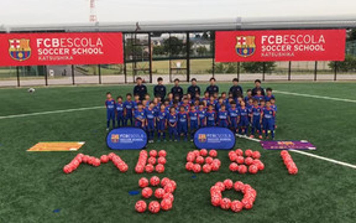 Les FCBEscoles de tot el món feliciten Leo Messi
