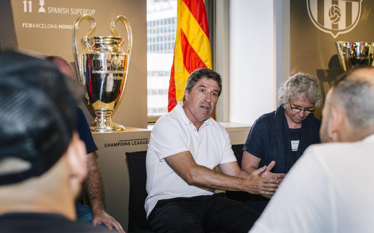 Jordi Roura visita les oficines de Nova York