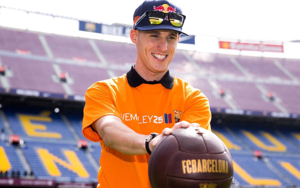 El test azulgrana de los hermanos Espargaró en el Camp Nou