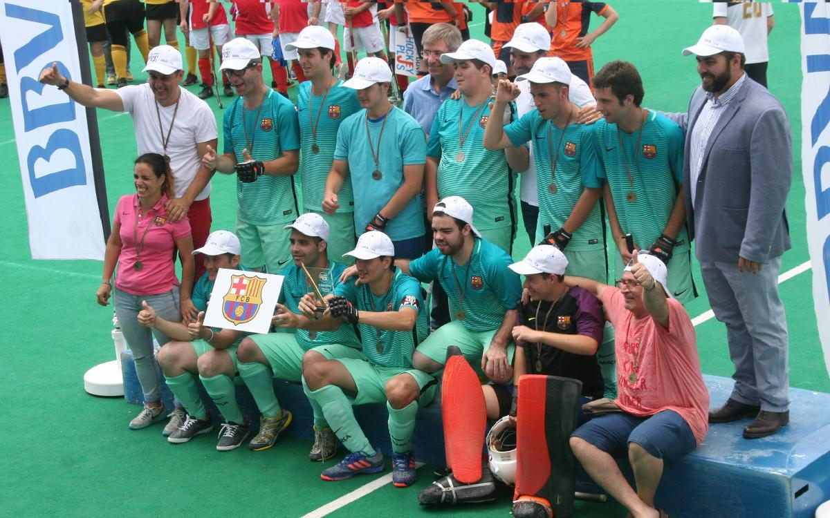 El FC Barcelona de hockey hierba gana la liga de 'Hockey Plus'