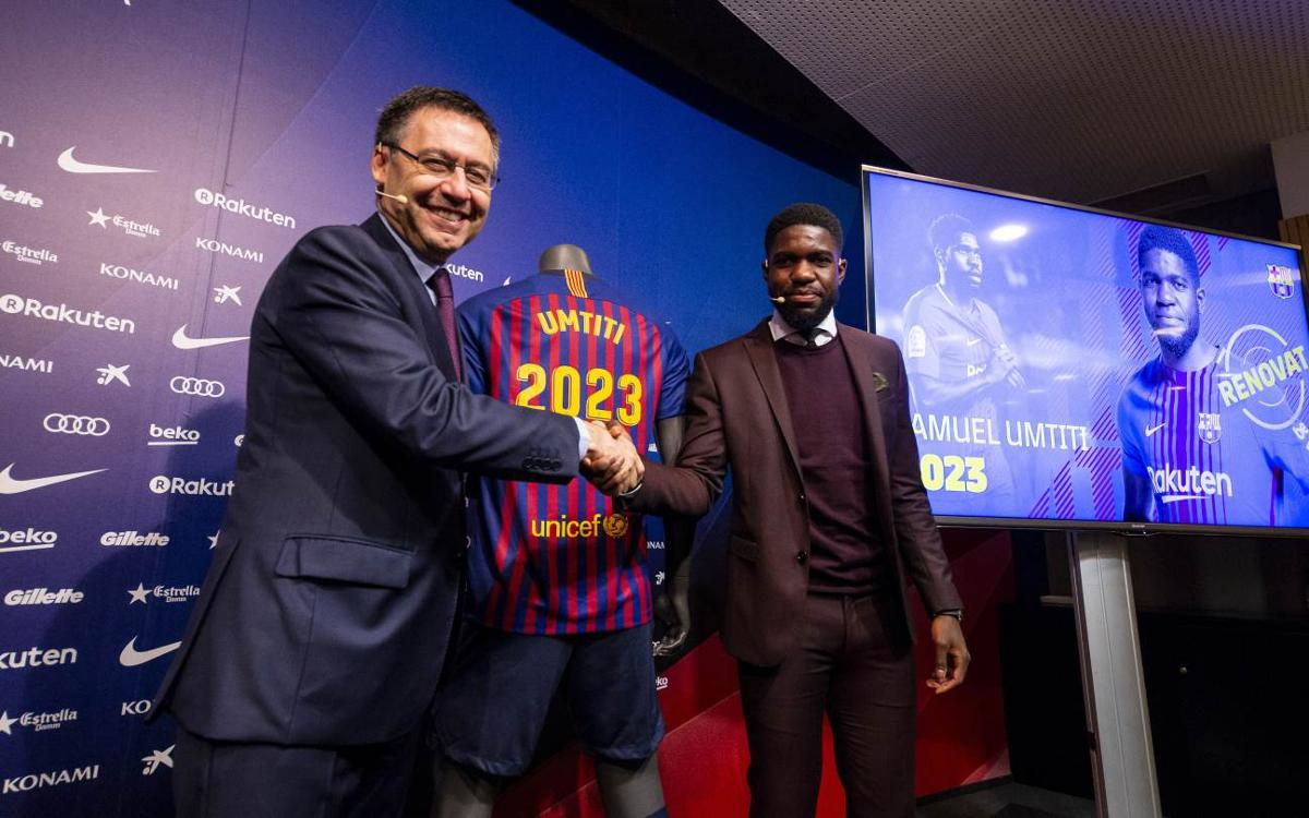 Samuel Umtiti renews with Barça for five more seasons