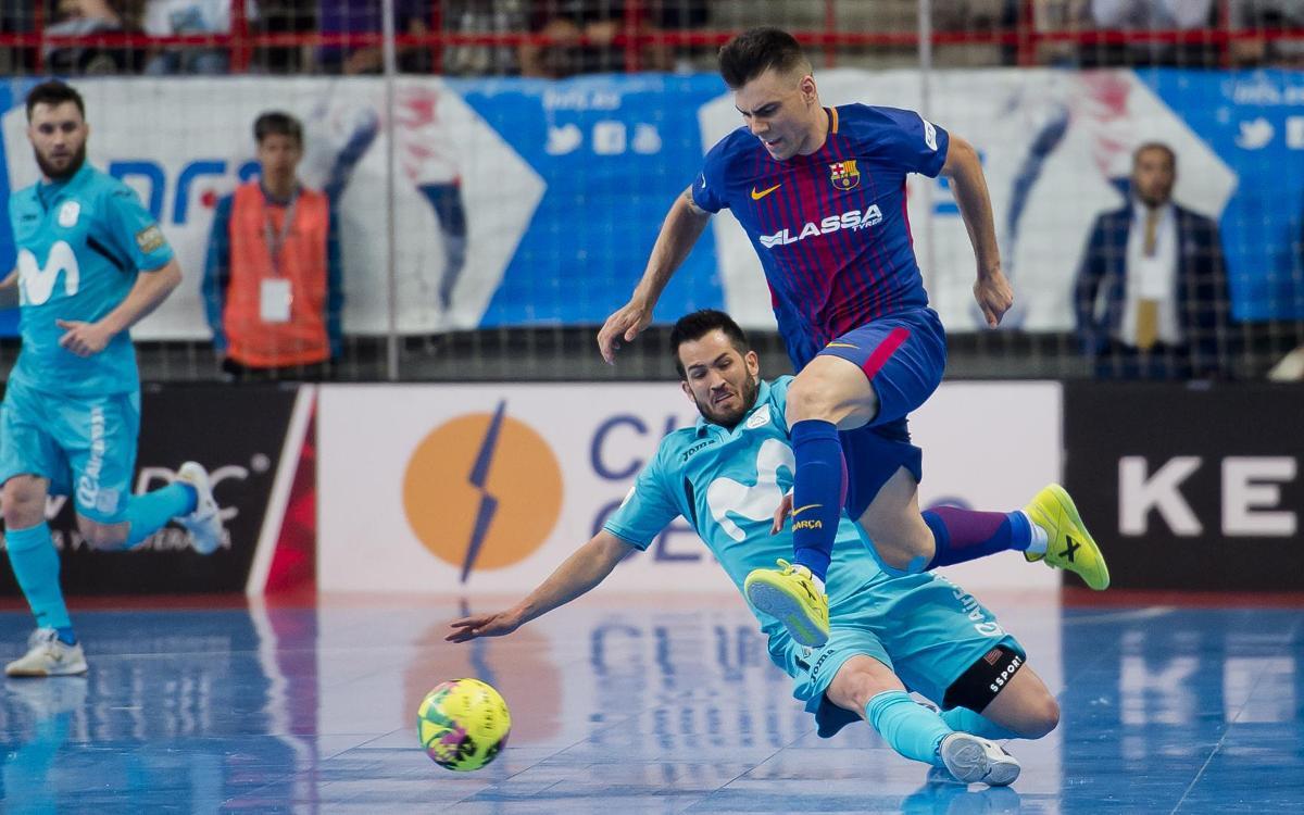 Movistar Inter – FC Barcelona Lassa: S'escapa el primer punt de la sèrie (4-2)