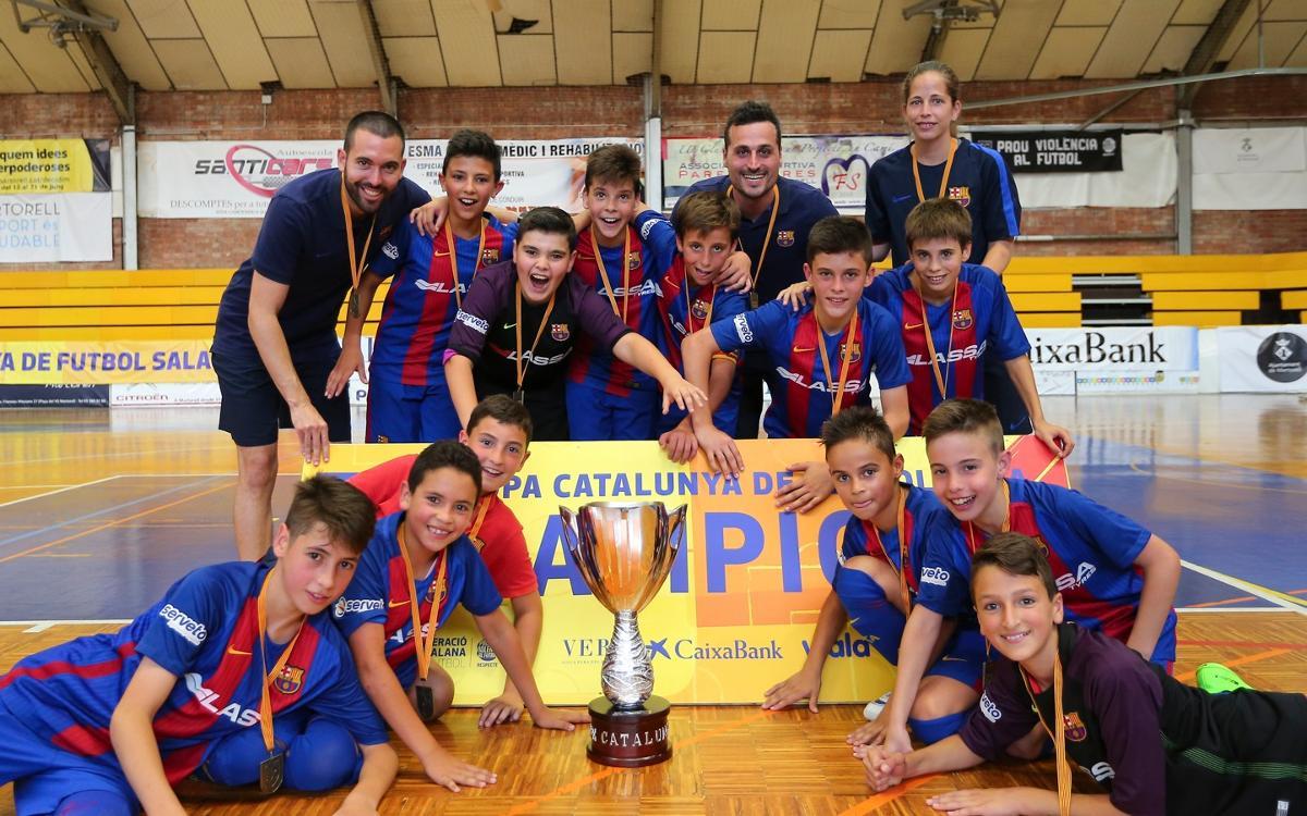 El Alevín y el Cadete, campeones de la Copa Cataluña