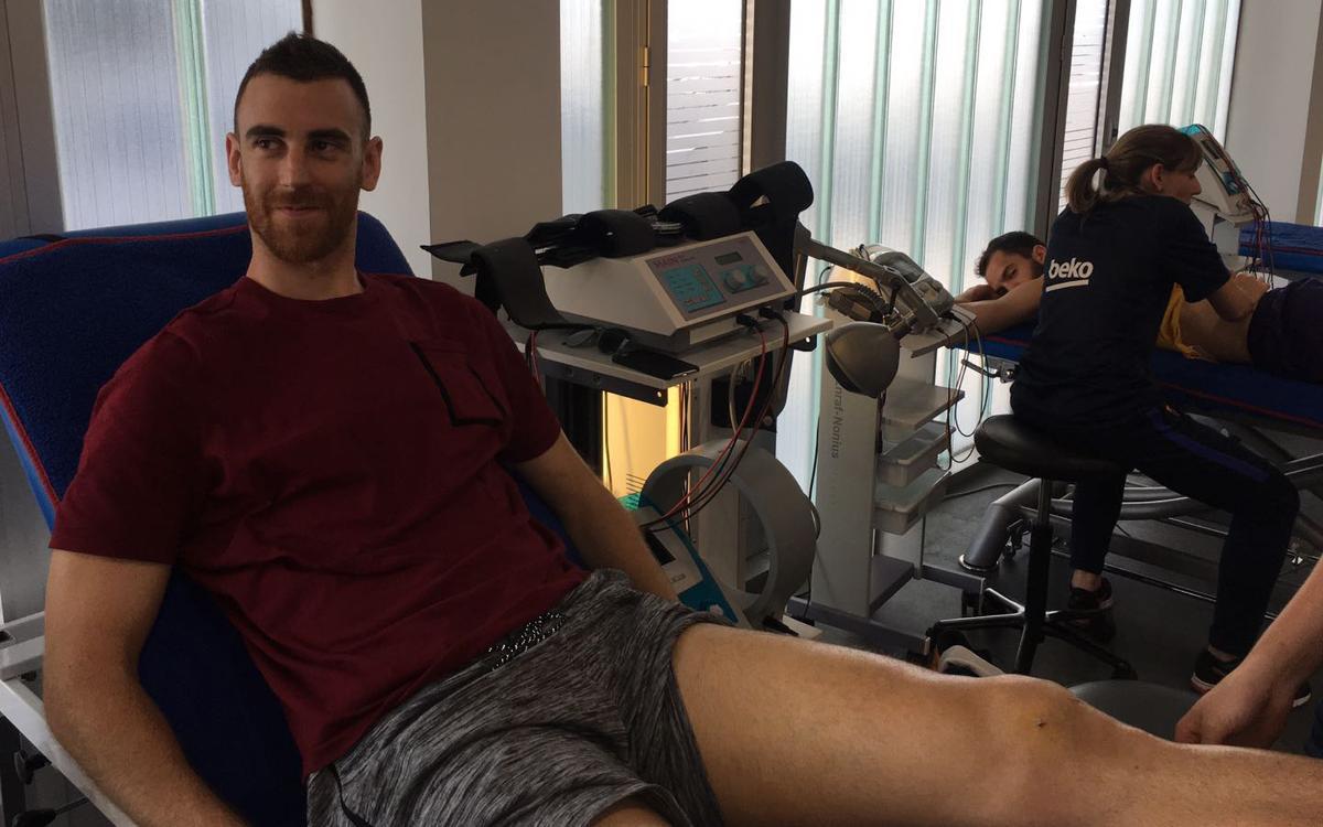 Víctor Claver empieza su recuperación