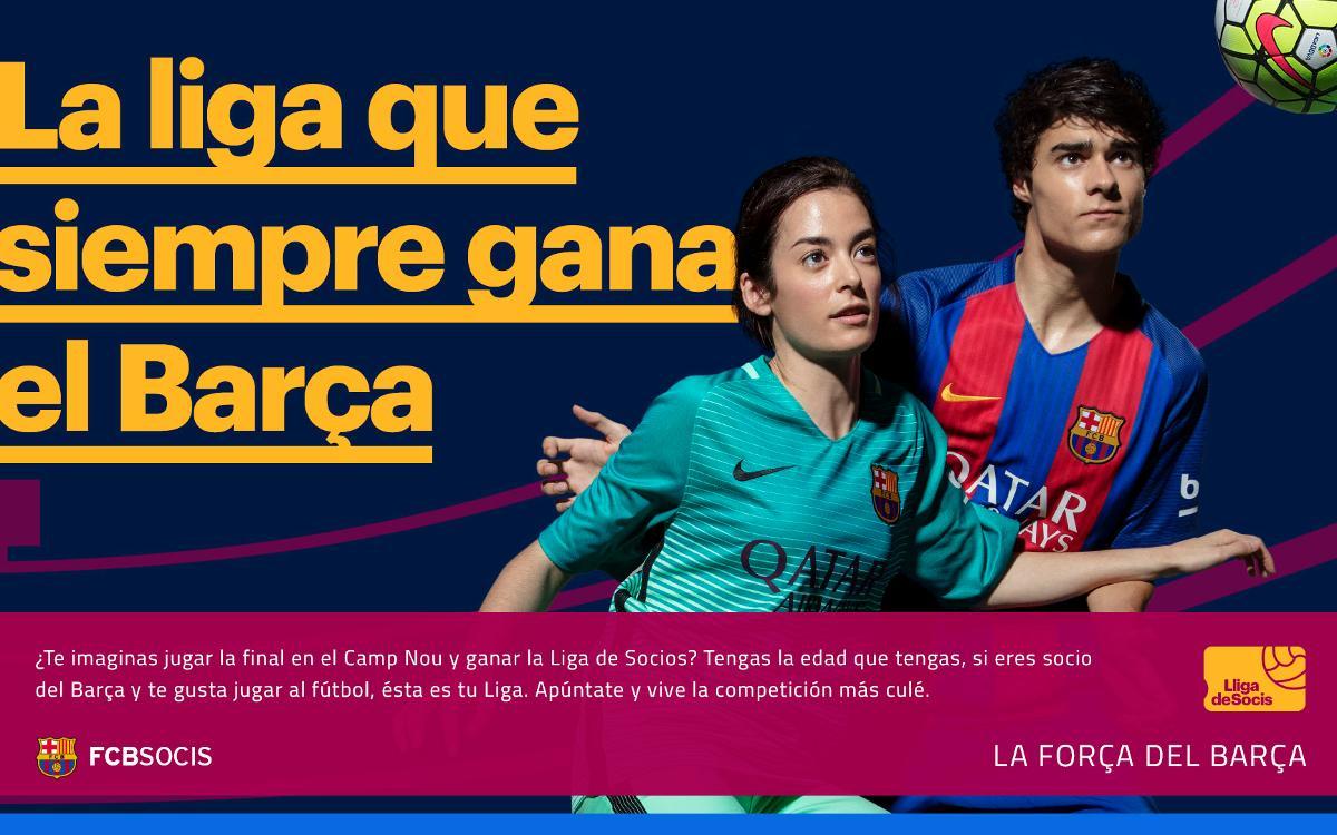 Ven a participar en la Liga de fútbol para socios
