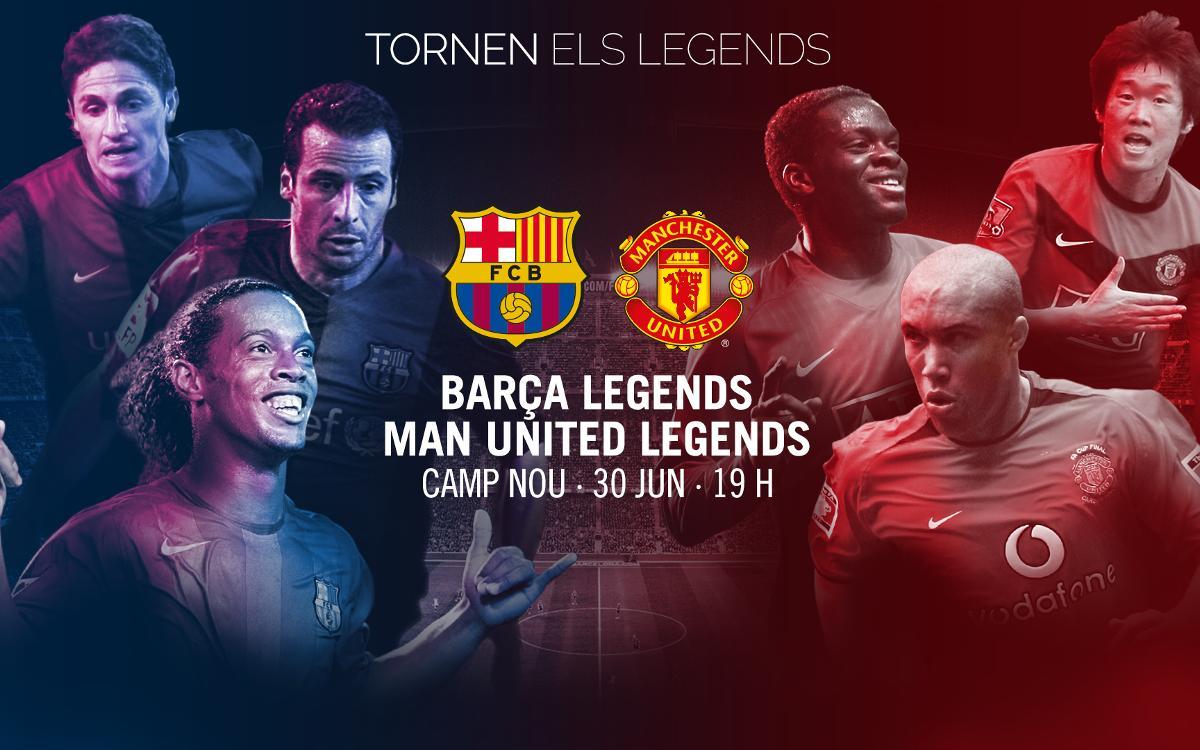 Així és el pòster oficial del partit dels Barça Legends del 30 de juny