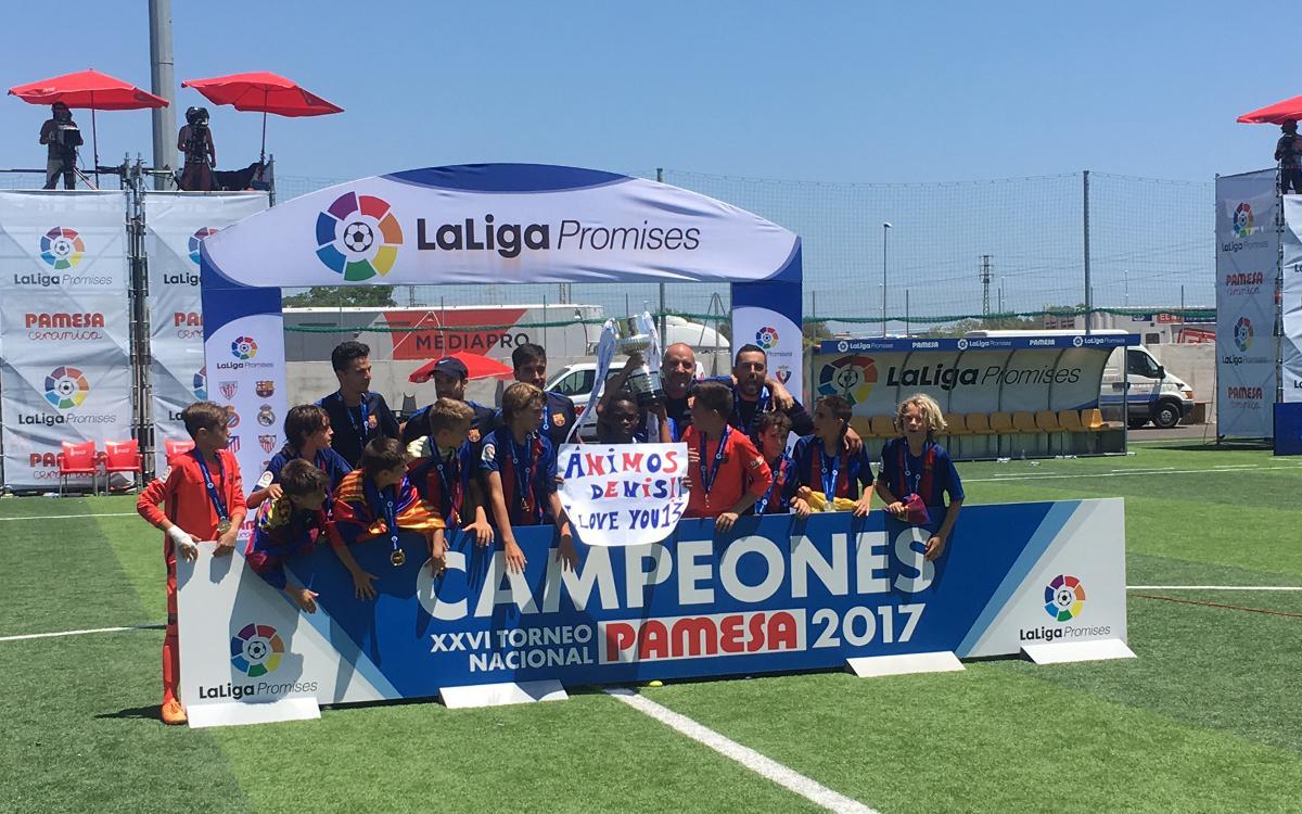 L'Aleví A es proclama campió de LaLiga Promises