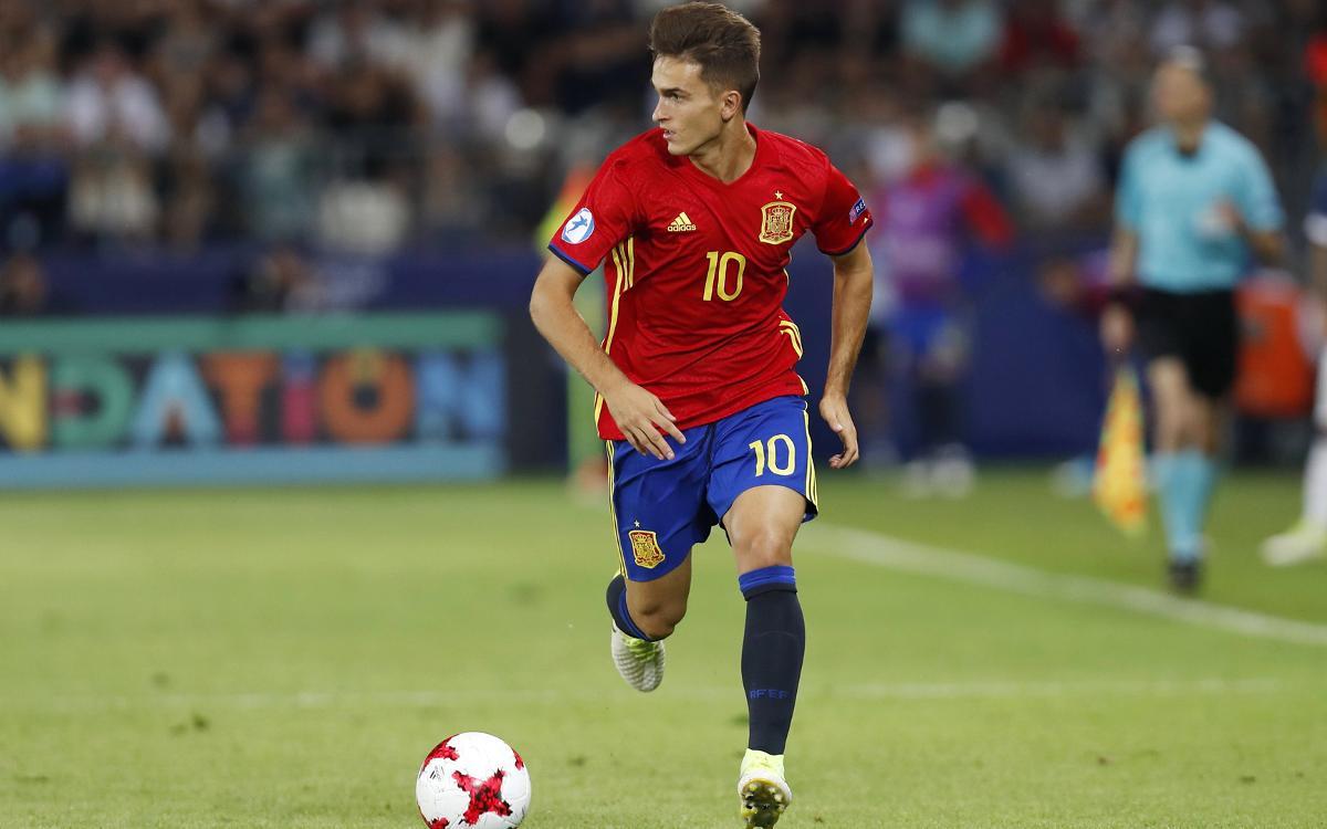 La sub-21 española de Denis Suárez, a la final del Europeo