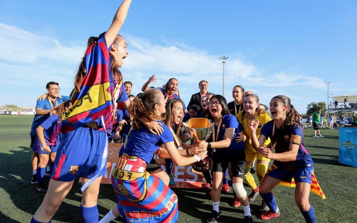 Juvenil-Cadete – RCD Espanyol: ¡Campeonas de Catalunya! (2-1)