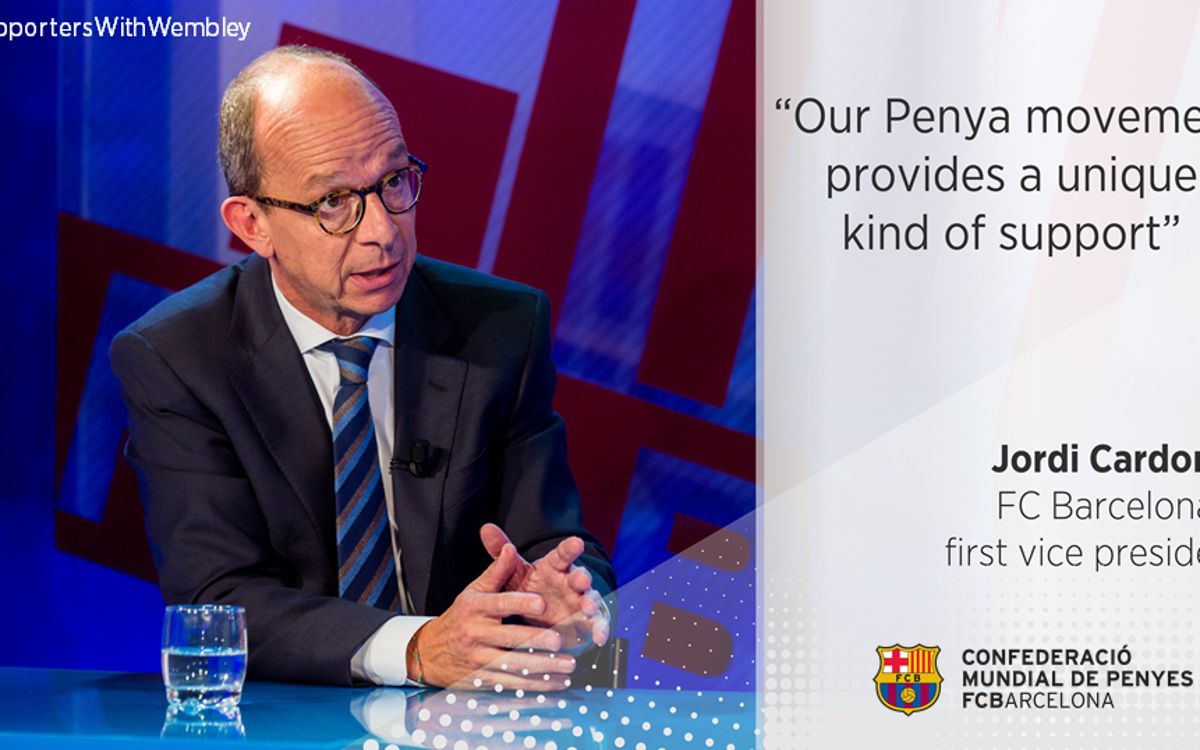 "Jordi Cardoner: ""Our Supporters Clubs movement provides a unique kind of support"""