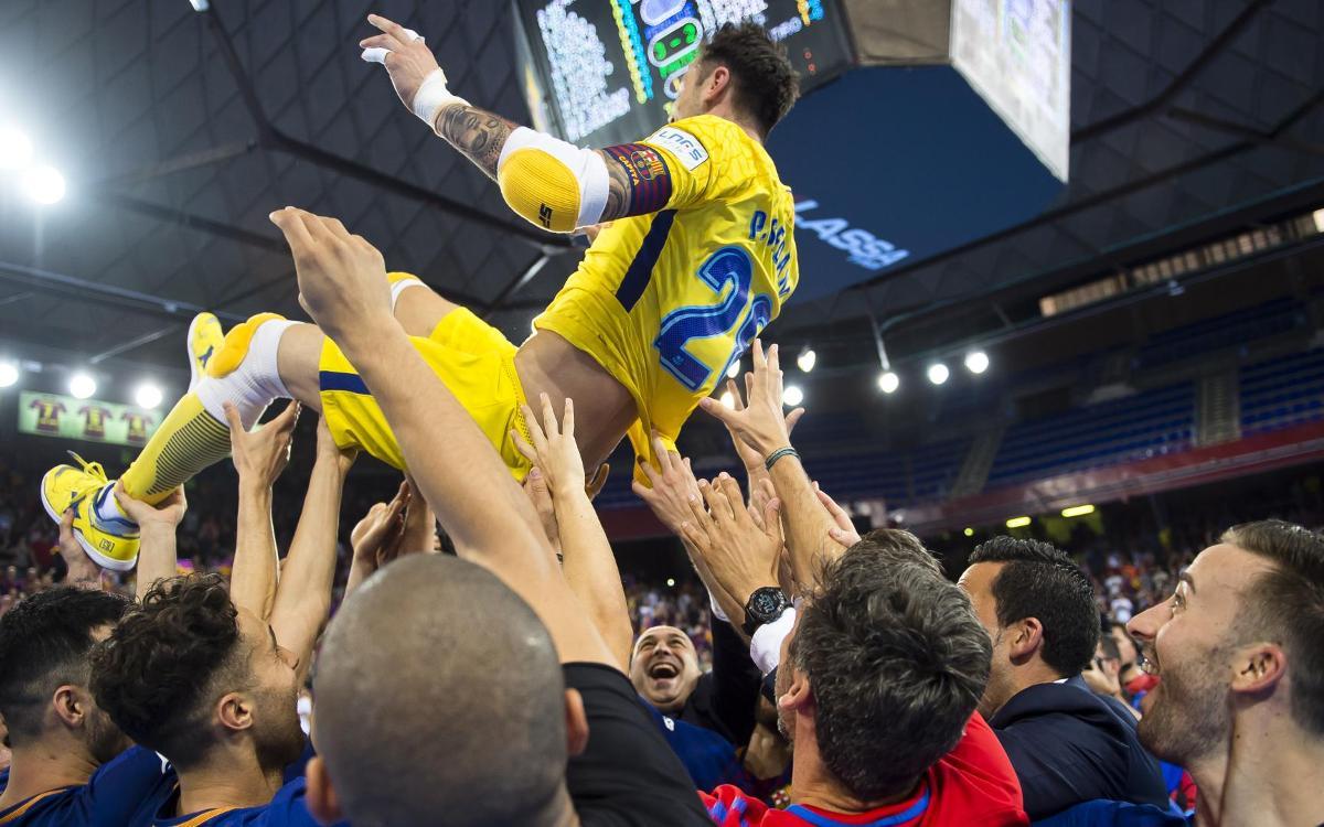 El comiat perfecte de Sedano al Palau Blaugrana