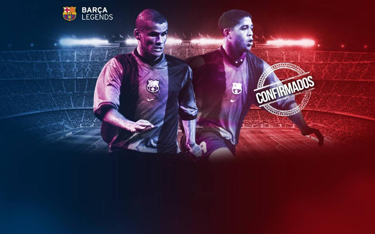 Rivaldo y Kluivert volverán al Camp Nou para jugar con los Barça Legends
