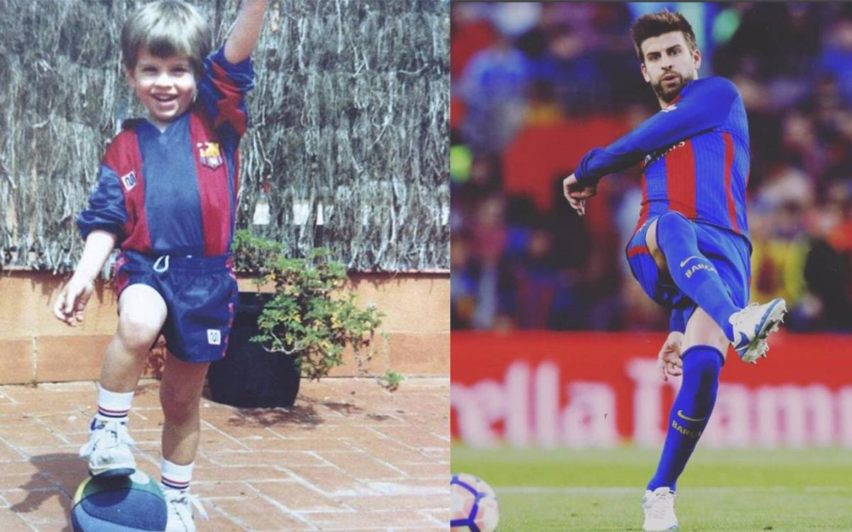 Gerard Piqué's rise through the ranks