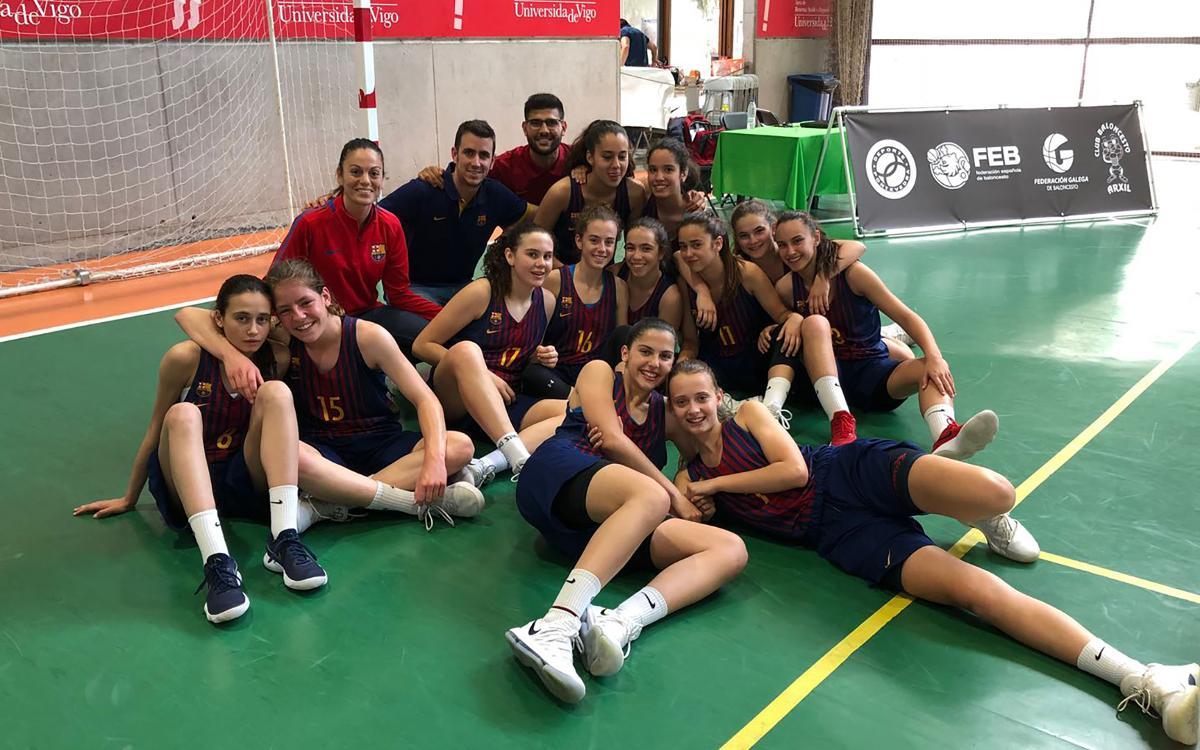 El equipo infantil del Barça CBS consigue el bronce en el campeonato de España