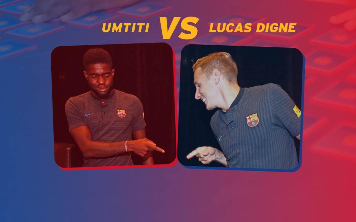 El duelo de 'Memory' entre Digne y Umtiti: ¿Quién será el ganador?