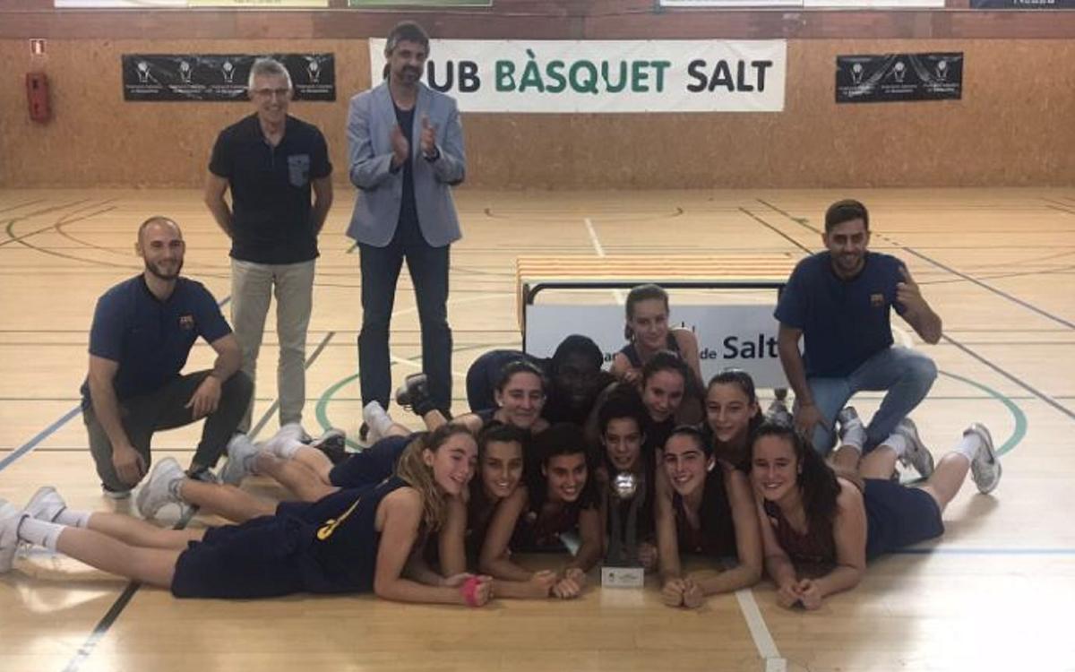 Les cadets B del Barça CBS, campiones de Catalunya Interterritorial