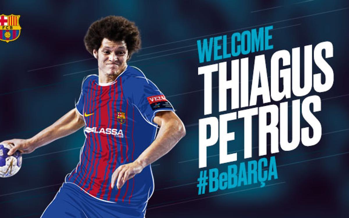 El Barça Lassa de balonmano incorpora a Thiagus Petrus