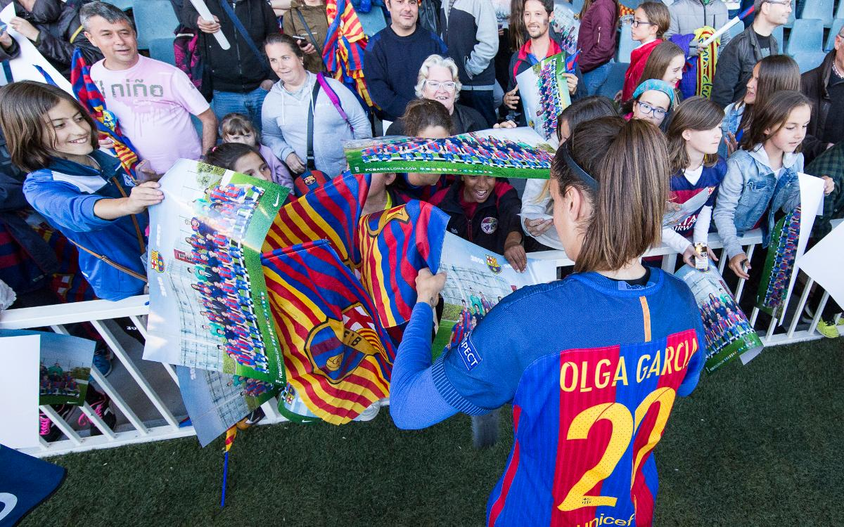 Olga García se despide de la afición