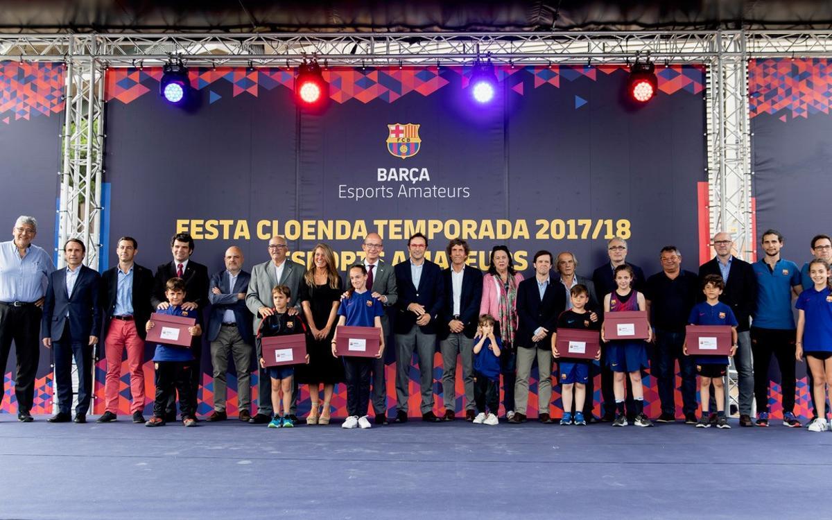 Festa dels equips formatius dels Esports Amateurs per tancar la temporda