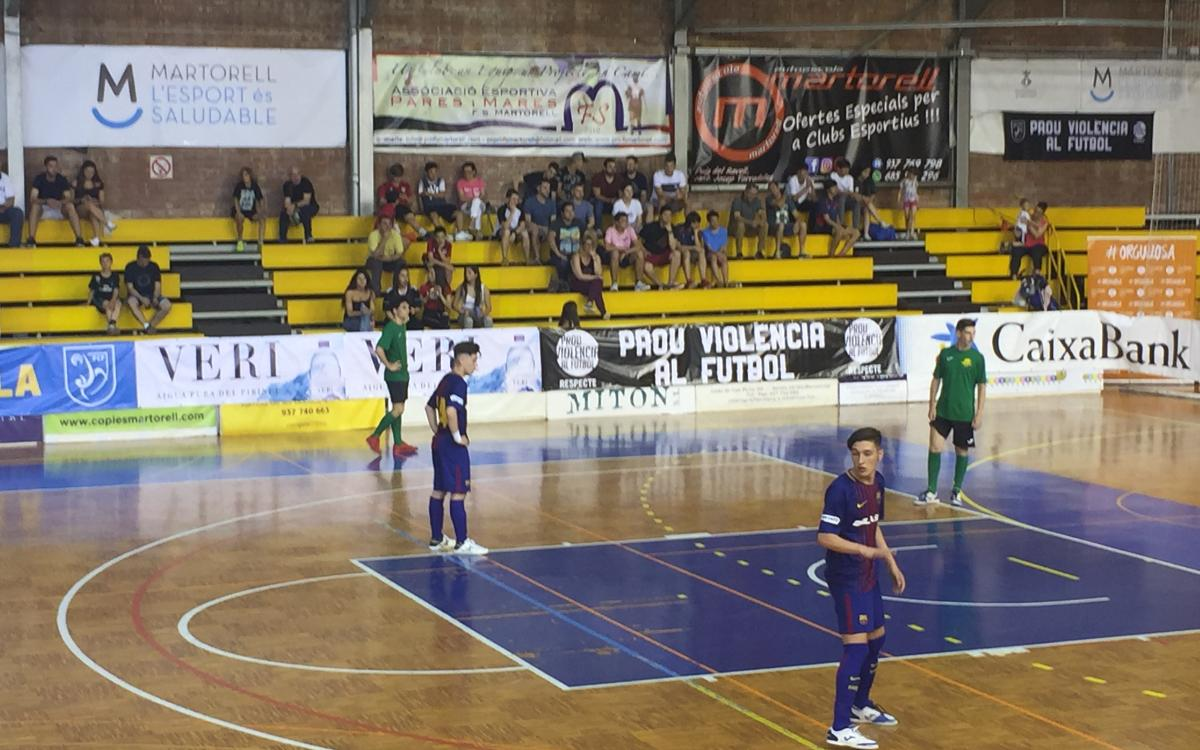 El Cadete subcampeón de la Copa Cataluña de fútbol sala (6-2)