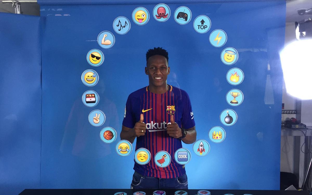 Barça Emoji: Así define Yerry Mina a sus compañeros de vestuario