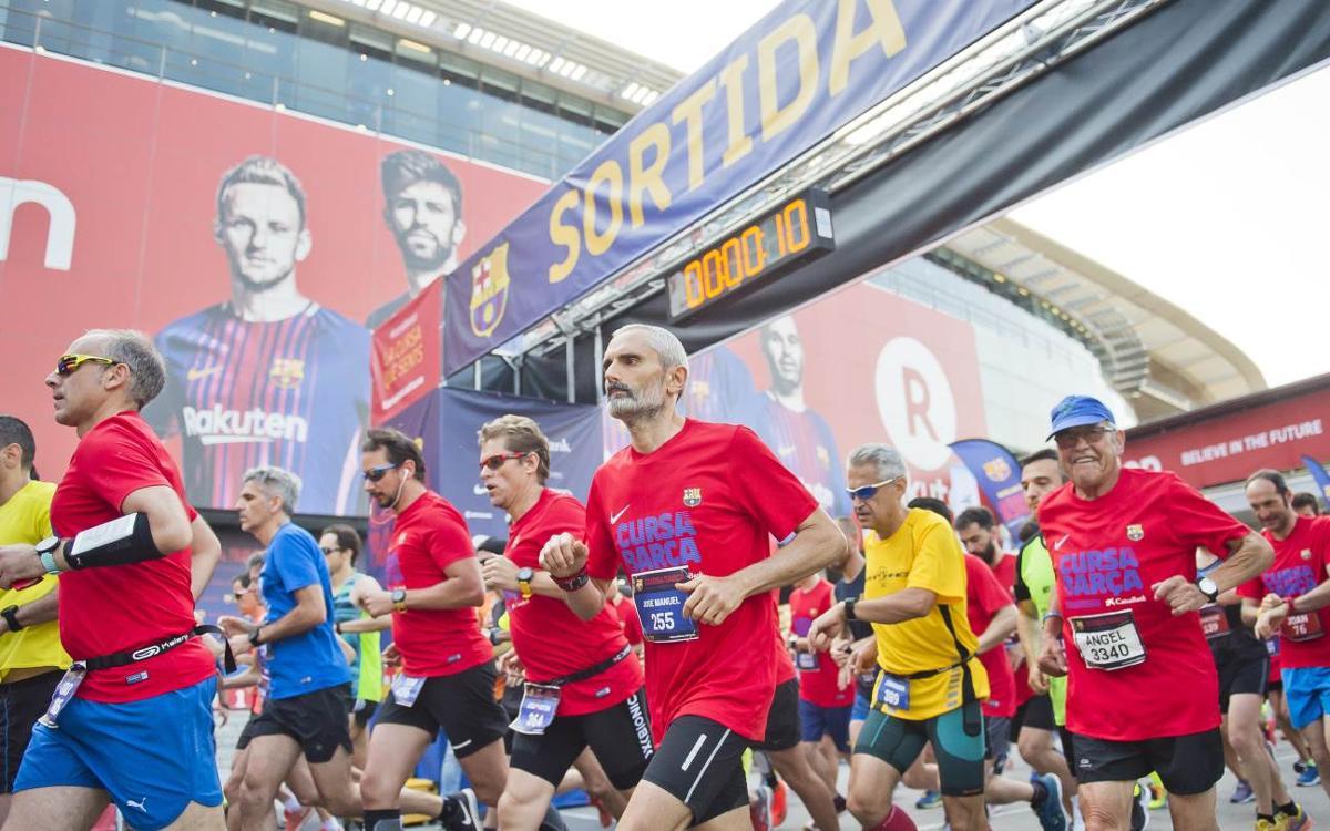 La Cursa Barça CaixaBank 2018 omple de barcelonisme els carrers de les Corts